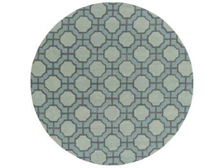 Surya Dream 8' Round Sage & Dark Brown Area Rug