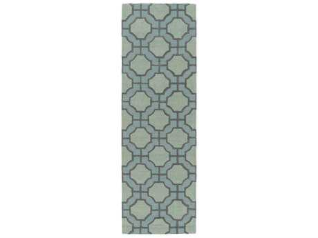 Surya Dream 2'6'' x 8' Rectangular Sage & Dark Brown Runner Rug