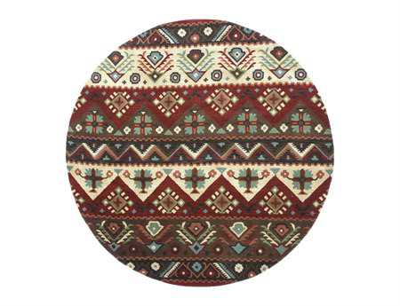Surya Dream 8' Round Brown Area Rug