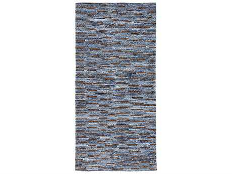 Surya Dungaree 2'6'' x 8' Rectangular Sky Blue Runner Rug
