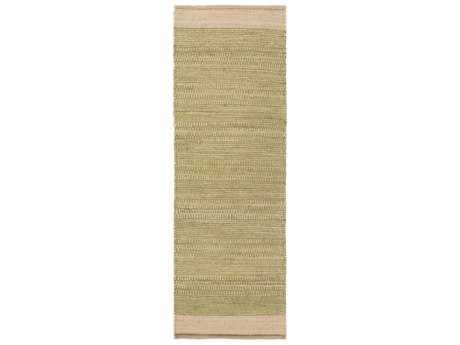 Surya Davidson 2'6'' x 8' Rectangular Grass Green & Khaki Runner Rug