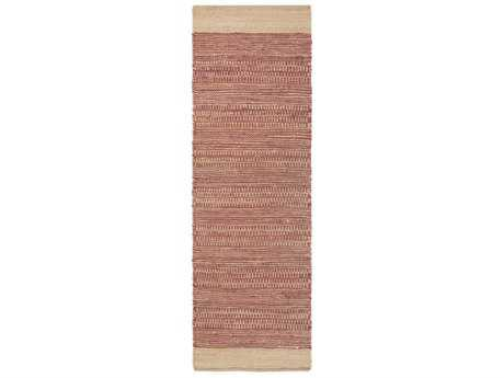 Surya Davidson 2'6'' x 8' Rectangular Fuchsia & Khaki Runner Rug