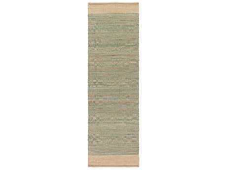 Surya Davidson 2'6'' x 8' Rectangular Teal & Khaki Runner Rug