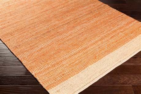 Surya Davidson Rectangular Bright Orange & Khaki Area Rug