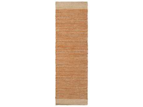 Surya Davidson 2'6'' x 8' Rectangular Bright Orange & Khaki Runner Rug