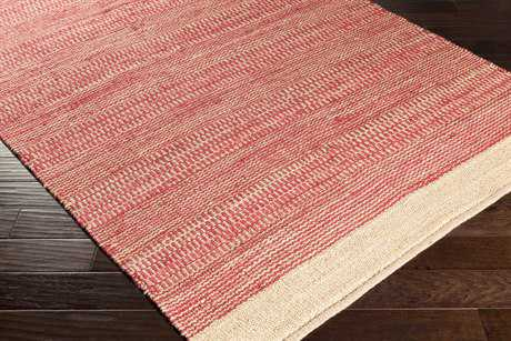 Surya Davidson Rectangular Bright Red & Khaki Area Rug