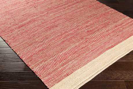 Surya Davidson Rectangular Bright Red & Khaki Area Rug