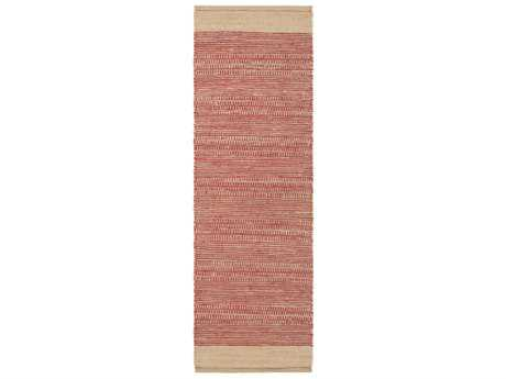 Surya Davidson 2'6'' x 8' Rectangular Bright Red & Khaki Runner Rug