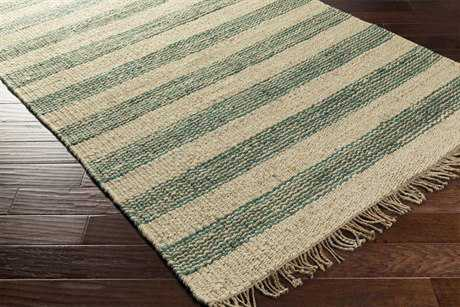Surya Davidson Rectangular Teal, Cream & Khaki Area Rug