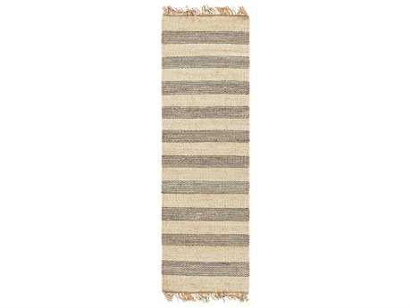 Surya Davidson 2'6'' x 8' Rectangular Medium Gray, Cream & Khaki Runner Rug