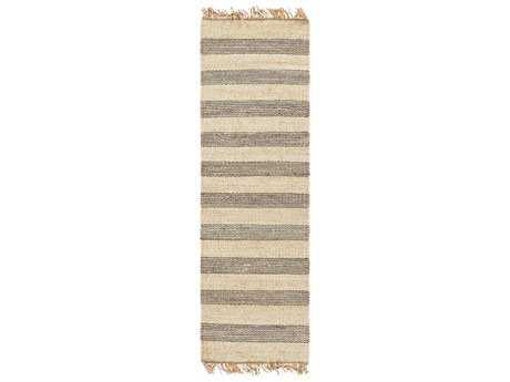 Surya Davidson 2'6'' x 8' Rectangular Medium Gray, Cream & Khaki Runner Rug