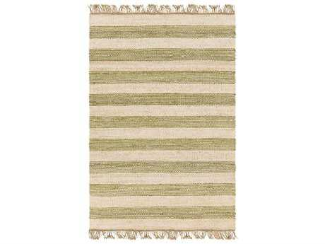 Surya Davidson Rectangular Grass Green, Cream & Khaki Area Rug