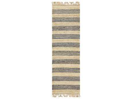 Surya Davidson 2'6'' x 8' Rectangular Navy, Cream & Khaki Runner Rug