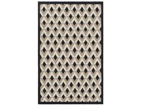 Surya Dwell D Rectangular Black, Khaki & Medium Gray Area Rug