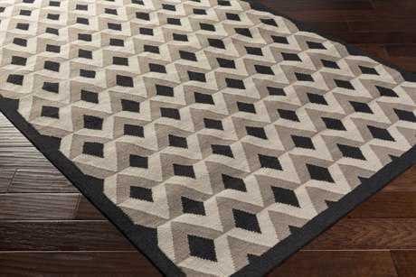 Surya Dwell D 2'6'' x 8' Rectangular Black, Khaki & Medium Gray Runner Rug