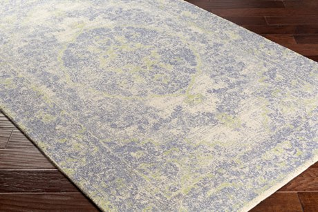 Surya Edith Rectangular Cream, Denim & Lime Area Rug