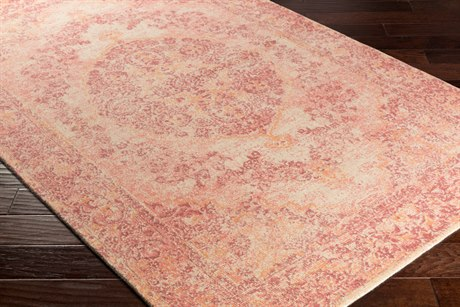 Surya Edith Rectangular Cream, Coral & Bright Orange Area Rug