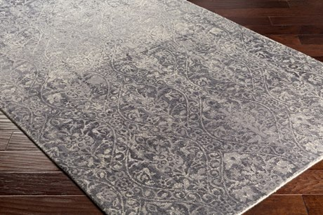 Surya Edith Rectangular Cream, Medium Gray & Charcoal Area Rug