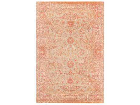 Surya Edith Rectangular Khaki, Coral & Bright Orange Area Rug