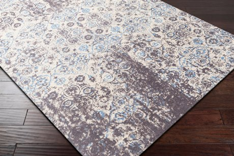 Surya Edith Rectangular Cream, Medium Gray & Pale Blue Area Rug