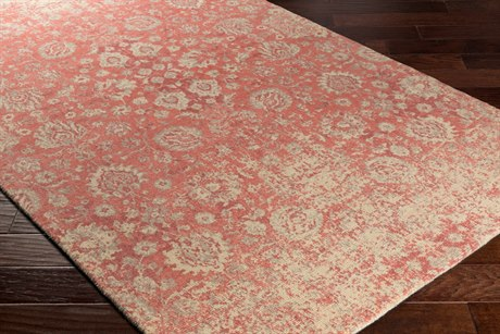 Surya Edith Rectangular Coral, Cream & Rose Area Rug