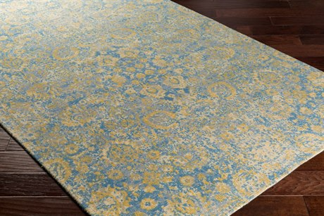 Surya Edith Rectangular Cream, Sky Blue & Pale Blue Area Rug