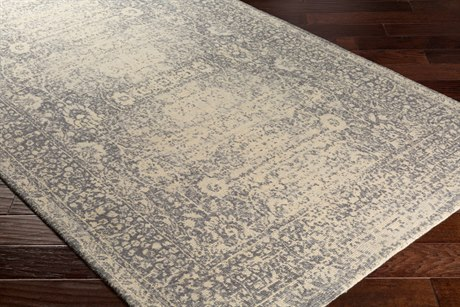 Surya Edith Rectangular Cream, Pale Blue & Medium Gray Area Rug