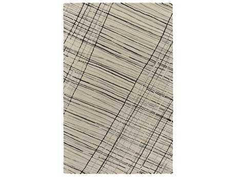 Surya Flying Colors Rectangular Light Gray, Black & Medium Gray Area Rug