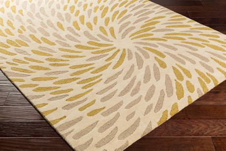 Surya Flying Colors Rectangular Cream, Taupe & Lime Area Rug