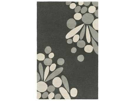 Surya Flying Colors Rectangular Charcoal, Medium Gray & Khaki Area Rug