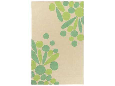 Surya Flying Colors Rectangular Cream, Emerald & Lime Area Rug
