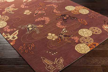Surya Kismet Rectangular Burgundy, Camel & Burnt Orange Area Rug