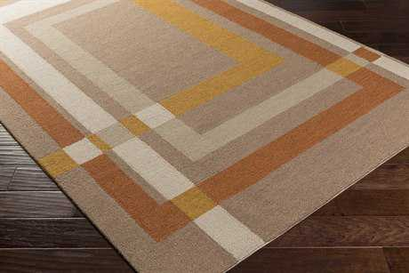 Surya Kismet Rectangular Camel, Burnt Orange & Taupe Area Rug