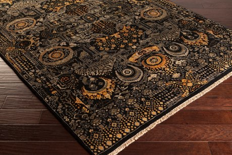 Surya Empress Rectangular Black Area Rug