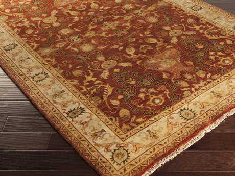 Surya Empress Rectangular Burgundy Area Rug