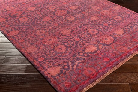 Surya Empress Rectangular Burgundy, Bright Red & Rose Area Rug