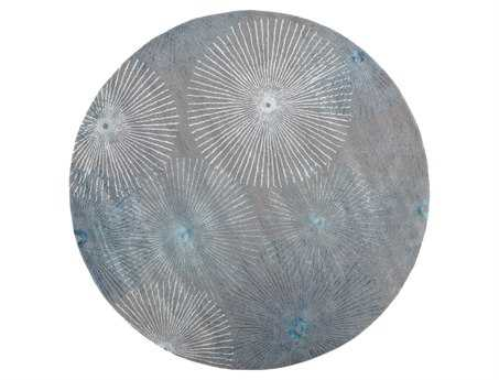 Surya Essence 8' Round Gray Area Rug