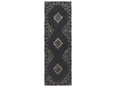 Surya Essence 2'6'' x 8' Rectangular Charcoal Runner Rug