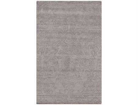Surya Etching Rectangular Gray Area Rug