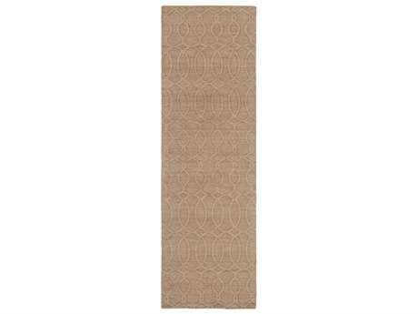 Surya Etching 2'6'' x 8' Rectangular Light Gray Runner Rug