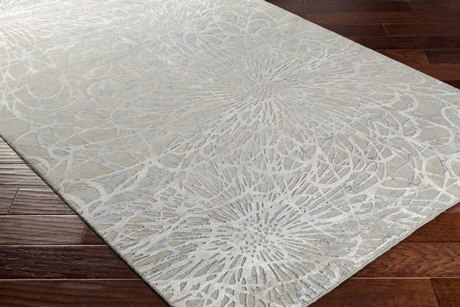 Surya Etienne Rectangular Sea Foam & Light Gray Area Rug