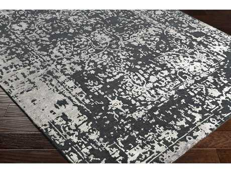 Surya Euphoric Rectangular Black, Charcoal & Light Gray Area Rug