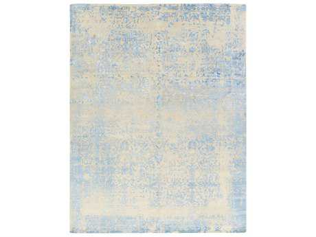 Surya Euphoric Rectangular Light Gray, Aqua & Sky Blue Area Rug
