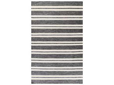 Surya Everett Rectangular Light Gray, Black & Cream Area Rug