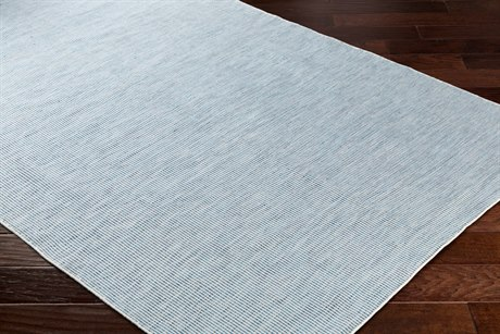 Surya Everett Rectangular Sky Blue, Navy & White Area Rug