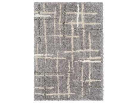 Surya Fanfare Rectangular Medium Gray, Light Gray & Cream Area Rug