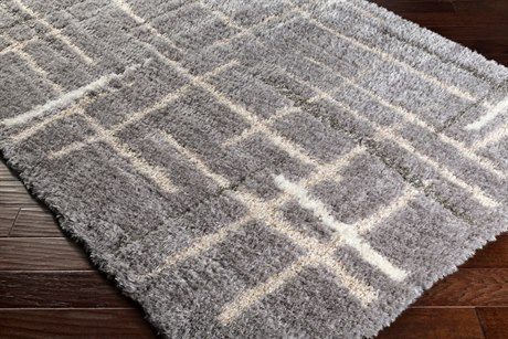 Surya Fanfare Rectangular Medium Gray, Light Gray & Cream Area Rug