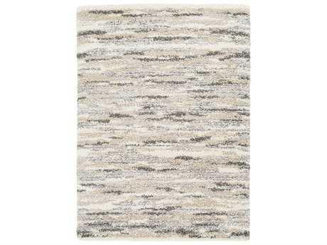 Surya Fanfare Rectangular Medium Gray, White & Cream Area Rug