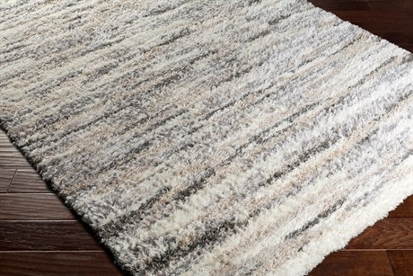 Surya Fanfare Rectangular Medium Gray, White & Cream Area Rug