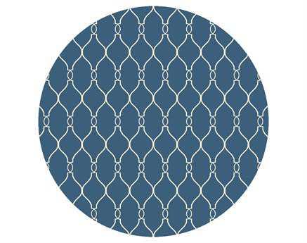 Surya Fallon 8' Round Blue Area Rug